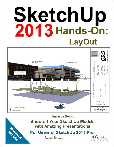 Sketchup hand on Layout boek